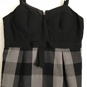 Forever 21 black and gray strap dress